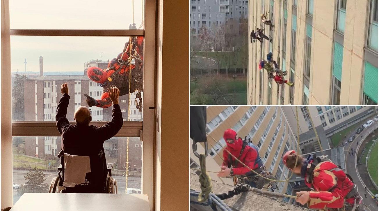 Milano, all'ospedale San Paolo arrivano i supereroi per i bambini e i pazienti Covid