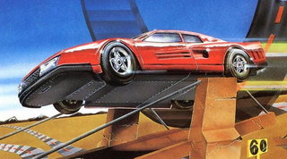Hard Drivin', uno dei primi videogiochi di guida tridimensionali