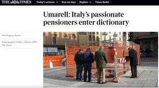 """'Umarell', il pensionato che guarda i cantieri, conquista anche il quotidiano """"Times"""""""