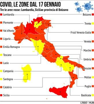 Coronavirus, le zone e i