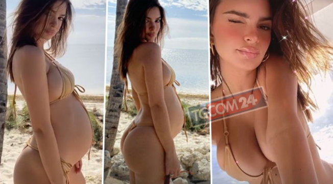 Emily Ratajkowski incanta: dopo il seno bombastico ora punta sul pancione