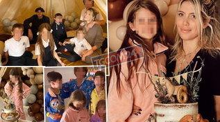 Wanda in tenda, gli Icardi si accampano in salotto per il compleanno di Francesca