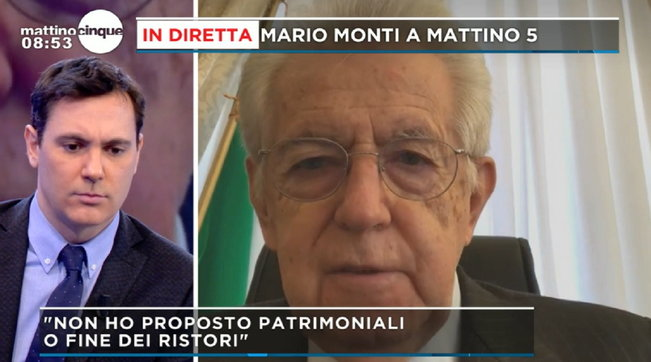"""Crisi Governo, Mario Monti: """"Ho votato la fiducia con diversi paletti"""""""
