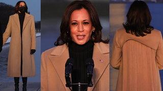 """Kamala Harris e il messaggio contro il Covid """"nascosto"""" nel cappotto"""