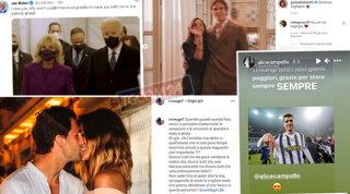 Come Biden alla moglie, ecco le dediche d'amore dei vip