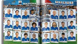 """""""Calciatori 2021"""", nell'album Panini anche la Nazionale cantanti: guarda le figurine!"""