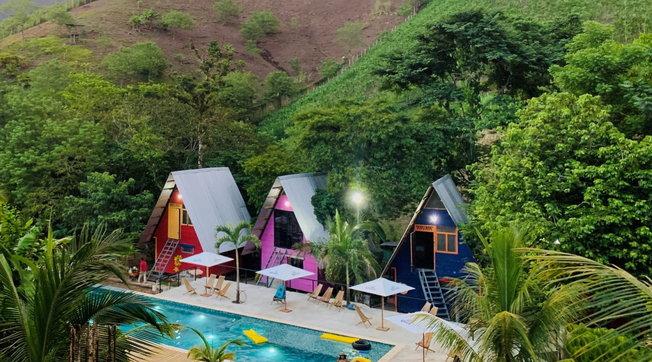 Hotel arcobaleno del Centroamerica per una vita a colori