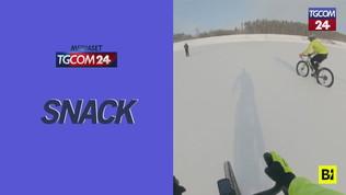 Repubblica Ceca, finale ghiacciato per la corsa in bicicletta