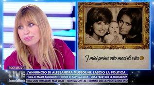 """Alessandra Mussolini: """"Mamma si fece bionda per un tradimento di papà"""""""