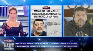 "Hugo Maradona sulla morte di Diego: ""Aveva le ginocchia a pezzi, ma nessuna malattia"""