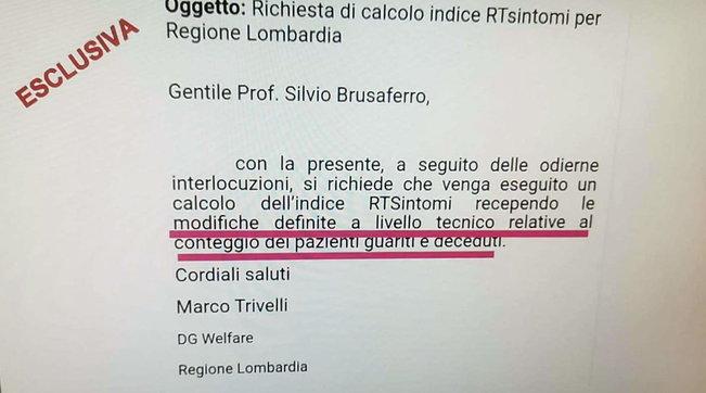 """Zona rossa in Lombardia, spunta una email della Regione del 19 gennaio """"dopo modifiche tecniche"""""""