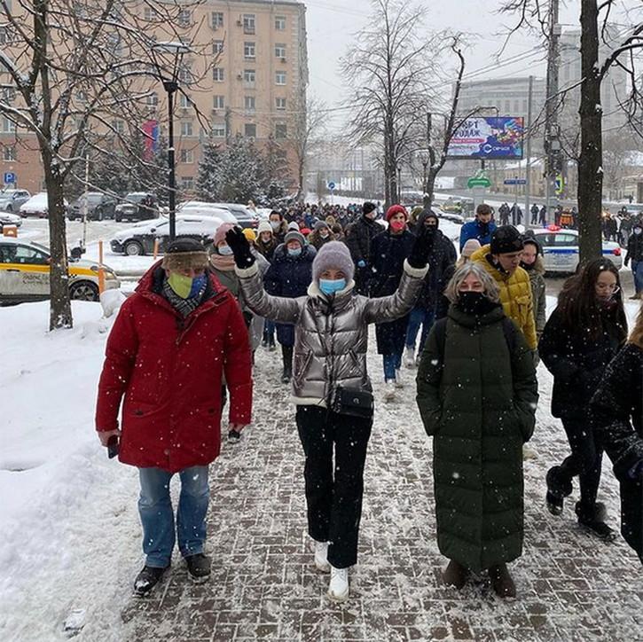 Russia, proteste contro l'arresto di Navalny: centinaia di arresti