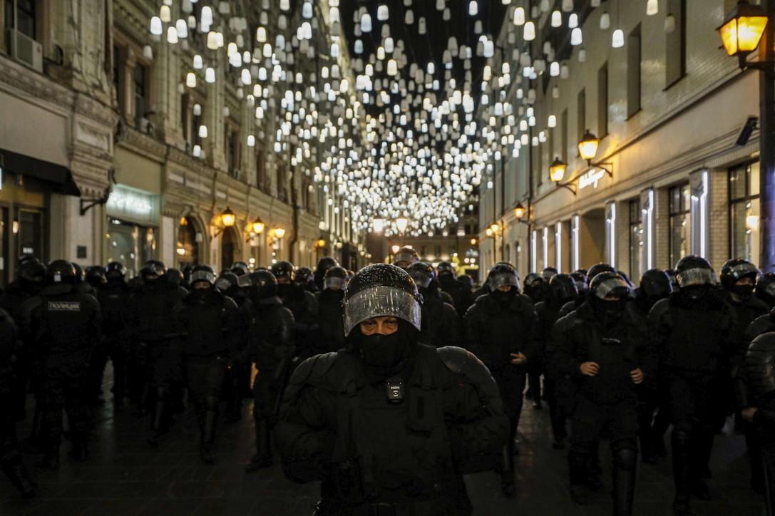Navalnycondannato, proteste in Russia: oltre mille arresti