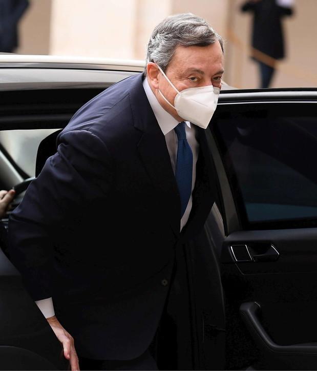 Mario Draghi al Quirinale per l'incarico