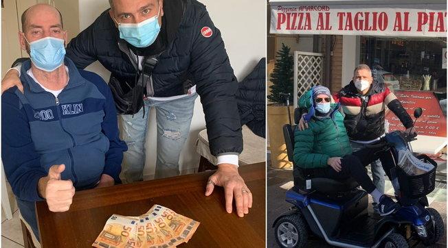 Multa a un disabile perché era entrato in pizzeria per ripararsi dal freddo, dai poliziotti 400 euro per pagarla