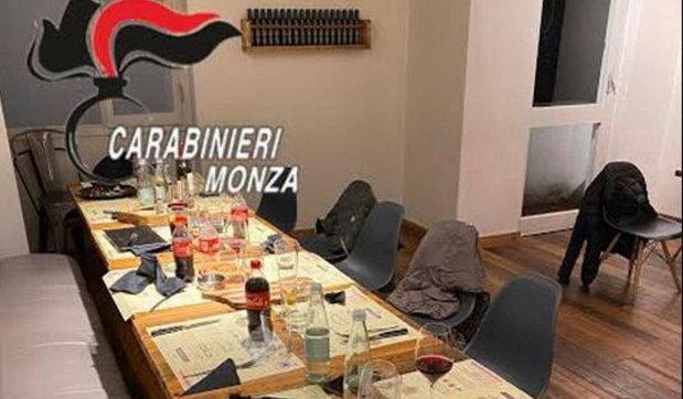 Monza, in 13 a cena in un ristorante nascosti in uno stanzino: tutti multati e locale chiuso