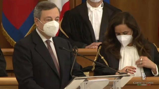 Corte dei Conti, Draghi e Mattarella all'inaugurazione dell'anno giudiziario 2021