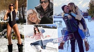 Vip sulla neve, dalla De Lellis innamorata alla Yespica bomba sexy: guarda le foto