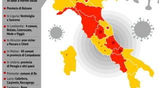 Italia a zone: ecco quali sono le Regioni gialle e le arancioni