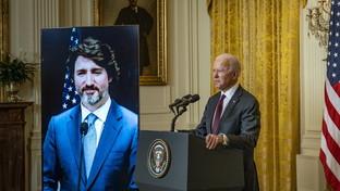 Usa-Canada, primo bilaterale tra Biden eTrudeauin videoconferenza