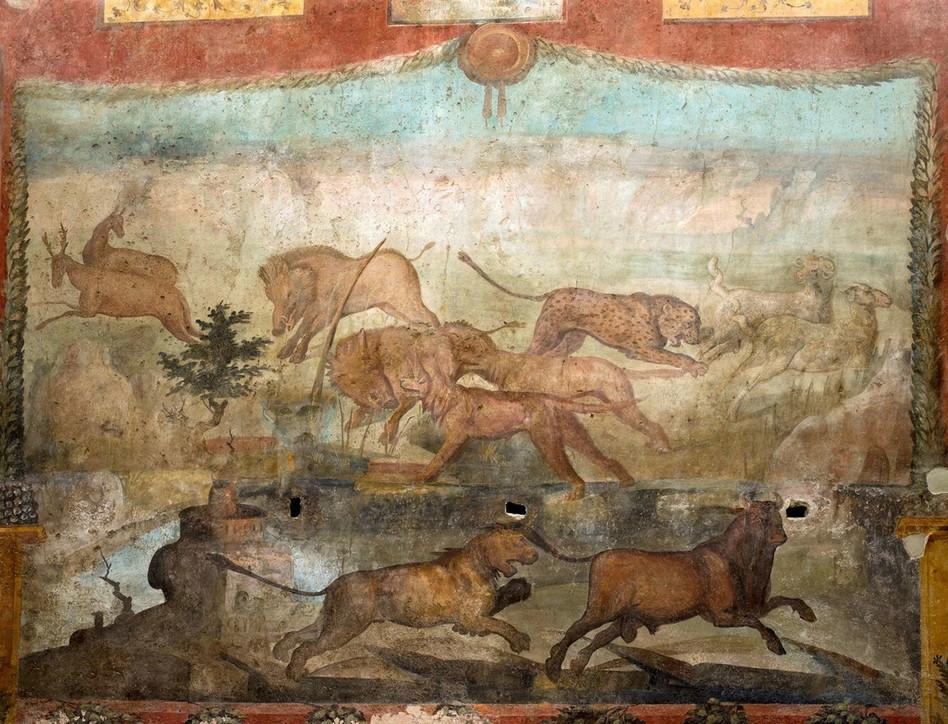 Pompei, concluso il restauro dell'affresco della Casa dei Ceii