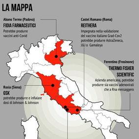 Vaccini, ecco i siti dove potrebbero essere prodotti in Italia