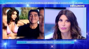 """Carmen Di Pietro: """"Ho avuto una storia clandestina con Maradona"""""""