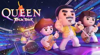 I Queen accolgono i fan sul loro palco in un videogioco per smartphone