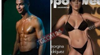 """Cristiano Ronaldo """"geloso"""" del fisico di Georgina mette in mostra i suoi muscoli"""