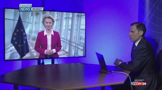 """Von der Leyen a News Mediaset: """"Italia Paese chiave per la produttività dei vaccini in Europa"""""""