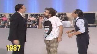 """""""Festival"""" 1987, tutti gli scherzi di Zuzzurro e Gaspare a Pippo Baudo"""