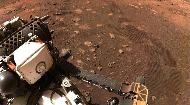 Nasa, Perseverance ha percorso i primi metri sul suolo di Marte: le impronte del rover