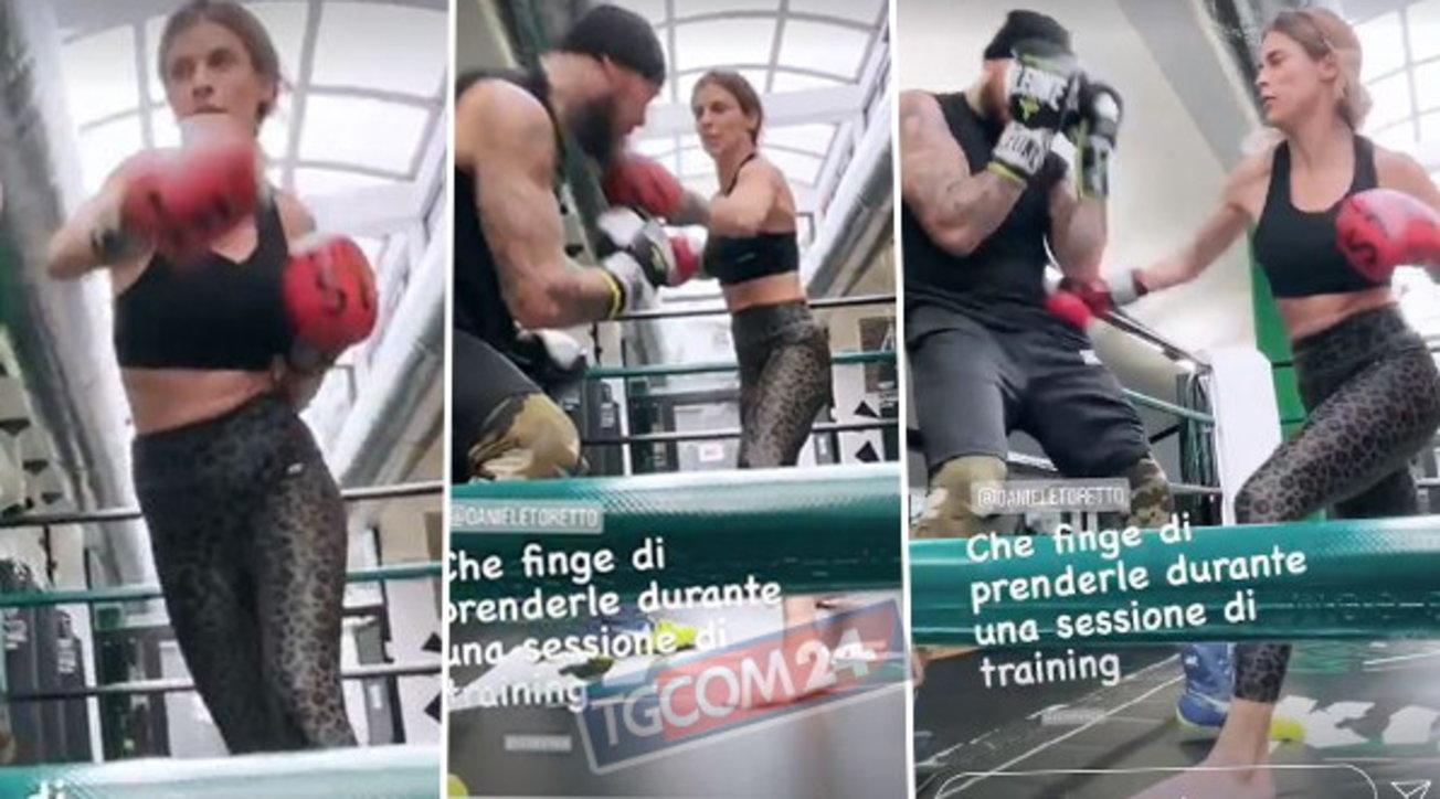 Elisabetta Canalis agguerrita, prende a pugni Daniele Scardina