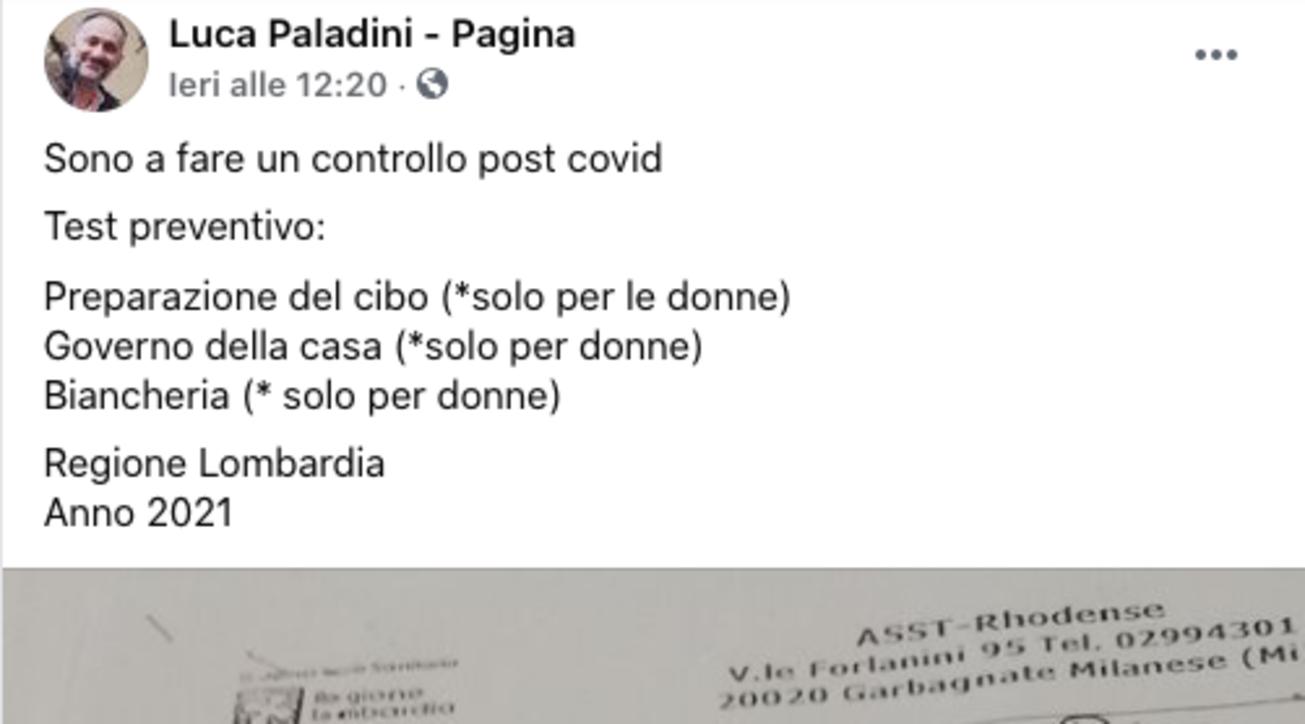 """Questionario shock in Lombardia, """"domande solo per donne"""""""