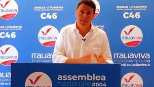 Italia Viva, Matteo Renzisulpalco (virtuale) dell'Assemblea nazionale