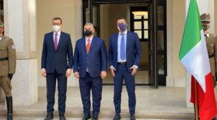 Ungheria,Salvini incontra Orban e Morawiecki