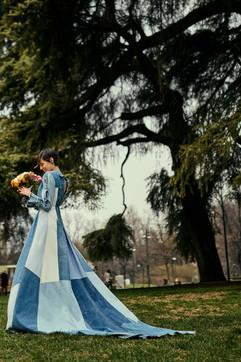 Moda: Levi's Upcycling, il primo abito da sposa da jeans e giacche in denim
