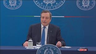"""Draghi: """"Voglio riaperture, ma no ho una data"""""""