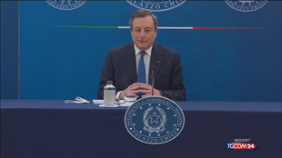 """Draghi: """"Piano vaccinale non cambia, priorità agli anziani"""""""