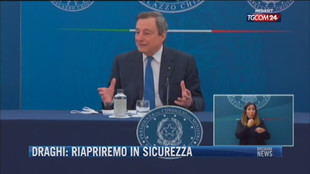 Breaking News delle 21.30   Draghi: Riapriremo in sicurezza