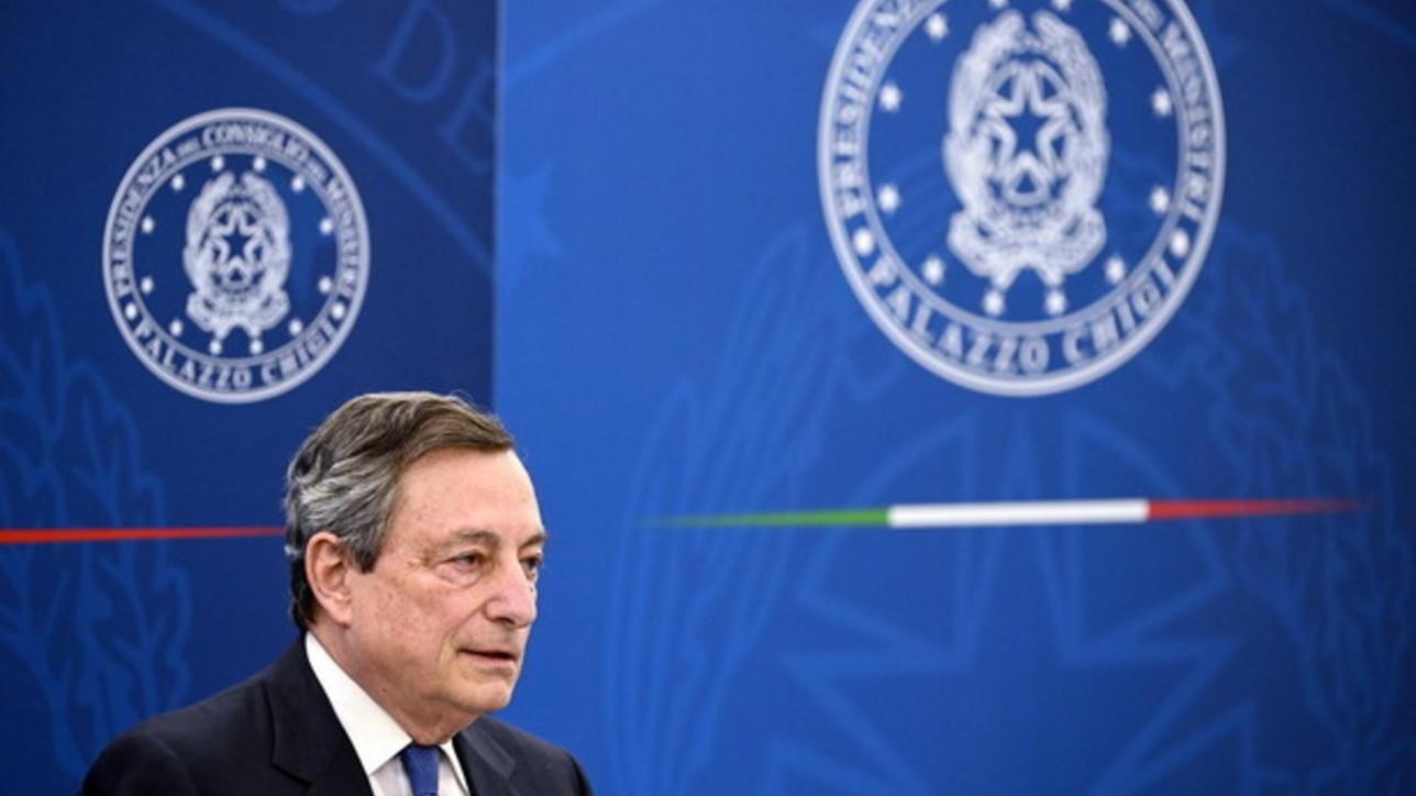 """Covid, Draghi: """"Voglio le riaperture, ma ancora non ho date"""""""