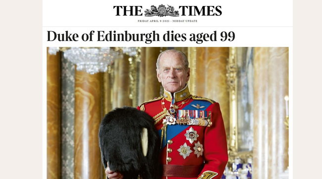 """""""E' morto il principe Filippo"""", la breaking news sui siti inglesi"""