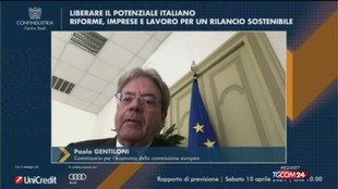 Gentiloni: Da Ue aiuti straordinari per oltre 3mila miliardi