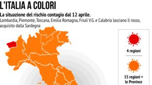 Italia a colori: le zone arancioni e rosse dal 12 aprile