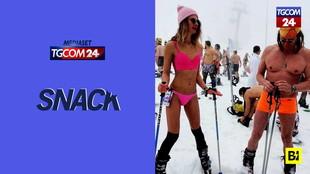 Russia, il festival degli sciatori coraggiosi: in costume da bagno a zero gradi