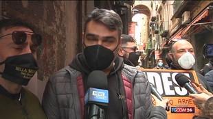 Covid, la protesta dei pastorai di San Gregorio Armeno