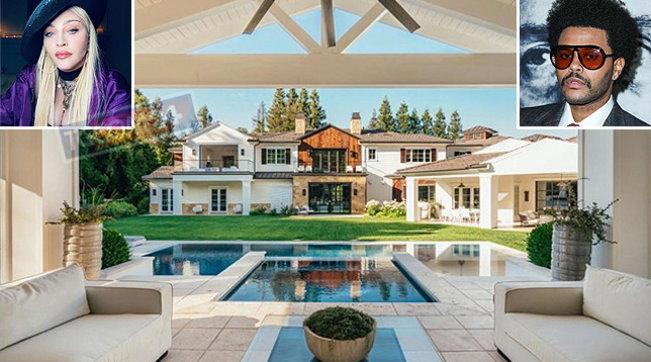 Madonna compra la villa di The Weeknd, 13 bagni e 9 camere da letto per 19 milioni di dollari