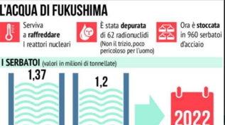 Giappone, l'acqua radioattiva di Fukushima