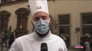 Firenze, la protesta degli chef