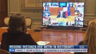 Breaking News delle 16.00 | Regioni: distanza due metri in ristoranti